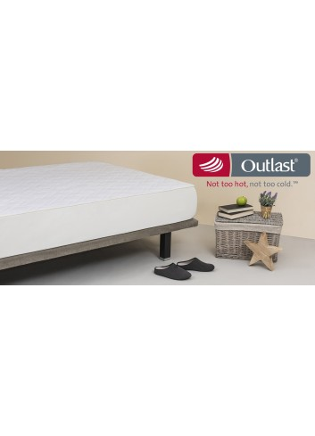 Quilted mattress pad with Outlast®