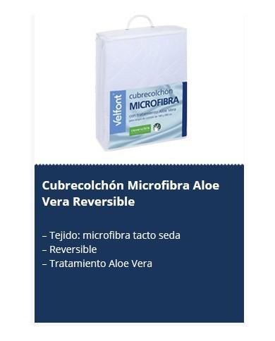 Cubrecolchón Microfibra Aloe Vera Reversible