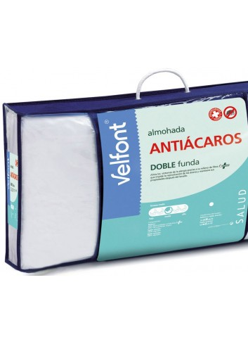 Almohada doble fundas Antiácaros